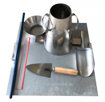 BỘ CÔN THỬ ĐỘ SỤT CỦA BÊ TÔNG là công cụ dùng để thí nghiệm, kiểm tra độ sụt của  vữa bê tông xi măng xây dựng. Trong xây dựng và dân dụng, kiểm tra độ sụt bê tông (hoặc đơn giản kiểm tra độ sụt)là công tác được kiểm tra tại công trường hoặc tại phòng thí nghiệm thường xác định và thước đo độ cứng, độ đặc chắc của mẫu bê tông trước khi bảo dưỡng.