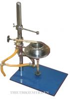 THIẾT BỊ BỐC CHÁY NHỰA - VN là dụng cụ dùng để xác định nhiệt độ bắt lửa và nhiệt độ bốc cháy của nhựa đường đặc. Nhiệt độ bắt lửa là điểm nhiệt độ thấp nhất tại áp xuất khí quyển 760 mm Hg, mà ở đó ngon lửa thí nghiệm làm cho mẫu bốc hơi và cháy dưới điều kiện quy định của thí nghiệm. Nhiệt độ bốc cháy là điểm nhiệt độ thấp nhất trong điều kiện thí nghiệm mà tại đó mẫu bị cháy trong thời gian 5 giây.